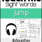 Teach Me Sight Words: JUMP [Interactive Center with Printa