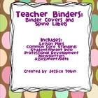 Teacher Binder Covers and Spine Labels