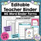 Teacher Binder 2014-2015 & 2015-2016 {EDITABLE} with 28+ P