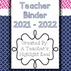 Teacher Binder - Mission Organization Navy & Pink