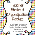 Teacher Binder & Organization Packet (Small Polka Dots)