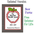 Teacher Binder Organizational Pack - Chevron