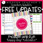 Teacher Binder (Planner & Organizer BUNDLE- Happy Day) Edi
