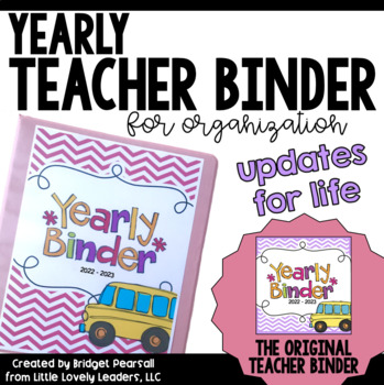 Teacher Binder for Organization (Including Substitute Packet)