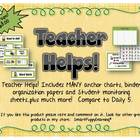 Teacher Helps for Literacy Groups - Plain Green/Yellow