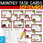 """Teacher, I'm Done!"" Task Cards for September"