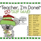"""Teacher, I'm Done!"" Task Cards for Winter"