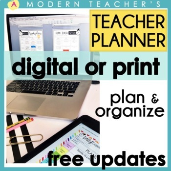 Teacher & Lesson Planner Editable with Common Core SS {Che