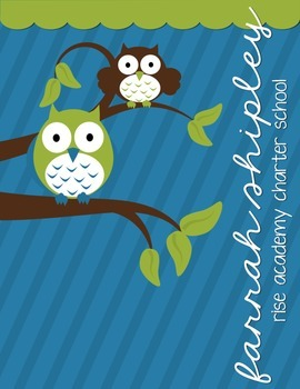 Teacher Lesson Planner--Owl Inspirational