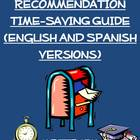 Teacher Letter of Recommendation Time-Saving Guide (Englis