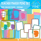 Teacher Maker Mini Set - Paper and Frames for Teachers