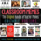 Teacher Memes Posters Editable {Back to School, Class Rules}