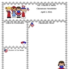 Teacher Newsletter Template - Patriotic USA Theme