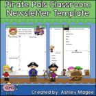 Teacher Newsletter Template - Pirate theme