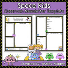 Teacher Newsletter Template - Space Theme