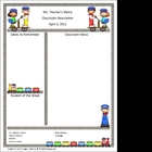Teacher Newsletter Template - Train Theme