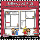 Teacher Newsletter Template with a Hollywood Theme