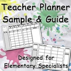 Teacher Planner Lesson Planning Guide