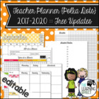 Teacher Planner - Rainbow Polka Dots