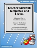 Teacher Survival-Substitute, Reflection, Goals, Discipline