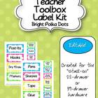 Teacher Toolbox - Bright Polka Dots (EDITABLE)