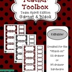 Teacher Toolbox - Garnet & Black - Team Spirit