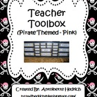 Teacher Toolbox (Pirate Themed - pink) - EDITABLE