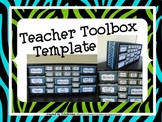Teacher Toolbox Template - Editable