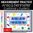 Teacher vs. Student - Area &  Perimeter PPT Game