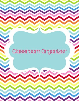 Teacher's Classroom Organizer {Chevron Chic}