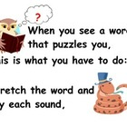 Teacher's Creatures Decoding Strategies Poster and Song