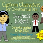 Teachers Full Color Cartoon Clip Art Graphics for Commercial Use