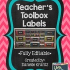 Teacher's Toolbox Labels - Bold Chevron - Editable