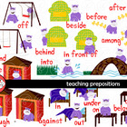 Teaching Prepositions Clipart and Flashcards by Poppydream