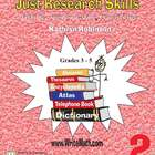 Teaching Research Skills Worksheets - 3rd, 4th, 5th Grade