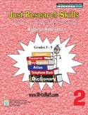 Teaching Research Skills Worksheets - 3rd, 4th and 5th Grade