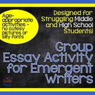 Teaching the 5-Paragraph Essay: Activities for Emerging Writers