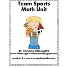 Team Sports Math Unit: graph, calendar, #wall, centers+more!