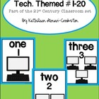 Tech. Themed Numbers 1-20