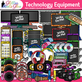 Technology Equipment Variety Pack Clipart - iPod, iPad, Ca