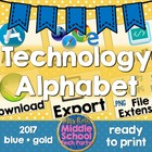 Technology Terms Alphabet Poster