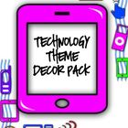 Technology Theme Bundle ~Classroom Decor Pack~ High Tech Theme