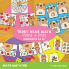 Teddies - Math Center Game for Early Number and Counting