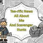 Tee-rific News All About Me and Scavenger Hunts