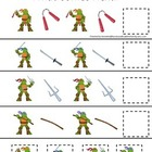 Teenage Mutant Ninja Turtles themed What Comes Next child