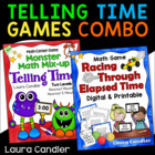 Telling Time / Elapsed Time Math Game Combo (Common Core Aligned)