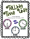 Telling Time Math Unit