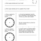 Telling Time Pretest and Post Test (Common Core Aligned)