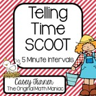 Telling Time Scoot, Task Cards, Assessment: Five Minute Intervals