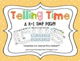 Telling Time to the Hour and Half Hour, A K-1 Time Packet